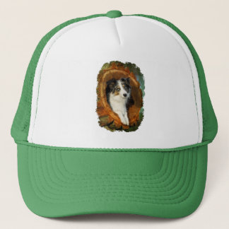 Border Collie Blue Merle Dog Portrait Photo - cap