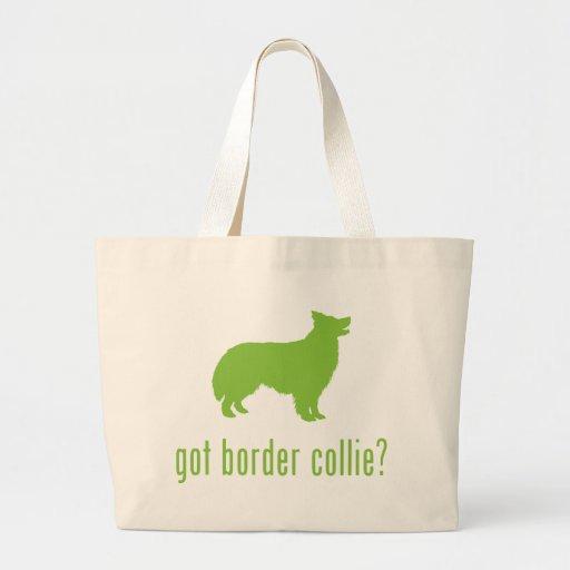 Border collie bolsa tela grande