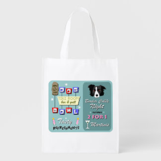 Border Collie Bowling Market Totes