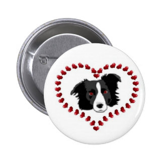 Border Collie Button