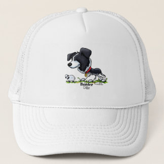 Border Collie Cartoon Trucker Hat