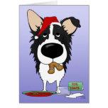 Border Collie Christmas Cards