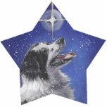 border collie Christmas Ornament Photo Cutouts