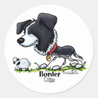 Border Collie - Color Classic Round Sticker