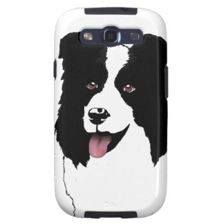 Border Collie Customize Text Background Color Samsung Galaxy S3 Cover