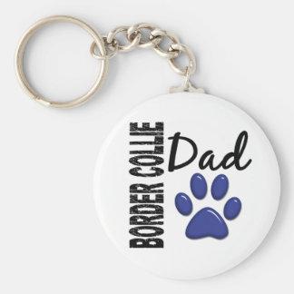 Border Collie Dad 2 Keychain