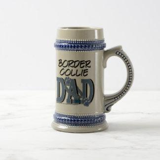 Border Collie DAD Beer Stein