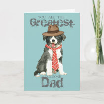 Border Collie Dad Card