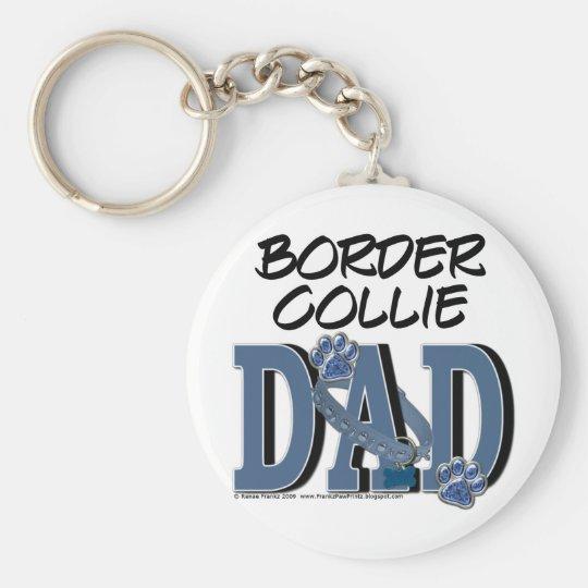 Border Collie DAD Keychain