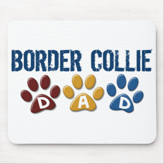BORDER COLLIE DAD Paw Print Mouse Mats