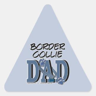 Border Collie DAD Triangle Sticker
