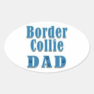 Border Collie Dad Stickers