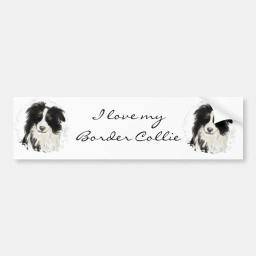 Border collie de encargo - colección del perro pegatina para auto