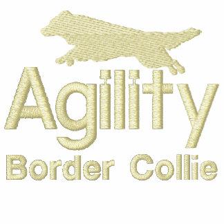 Border collie de la agilidad chamarra de deporte bordada con cremallera