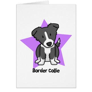 Border collie de la estrella de Kawaii Tarjetas