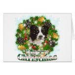 Border collie de las Felices Navidad Felicitacion