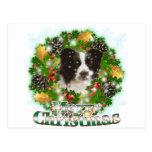 Border collie de las Felices Navidad Tarjetas Postales