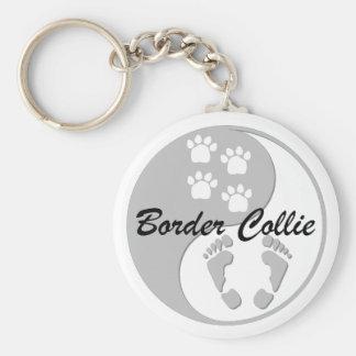 border collie de yang del yin llaveros