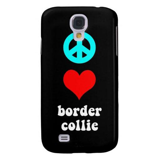 border collie del amor de la paz funda para galaxy s4