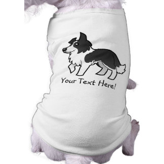 Border collie del dibujo animado ropa para mascota