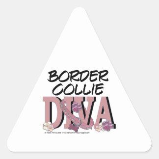 Border Collie DIVA Triangle Sticker
