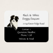 Border Collie Dog Animal Watercolor Business Card