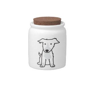 Border Collie Dog Cartoon Candy Dish