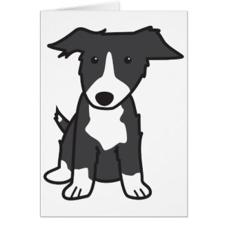 Border Collie Dog Cartoon Greeting Cards