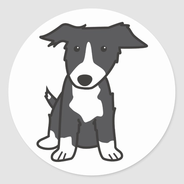 Canine Designs Set of 2 Border Collie Luggage Tags
