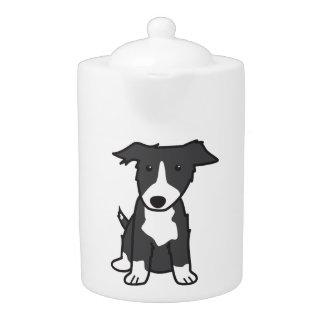 Border Collie Dog Cartoon Teapot