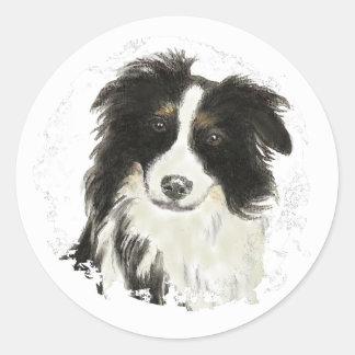 Border Collie - Dog Collection Classic Round Sticker