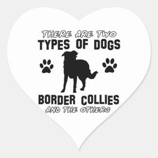 border collie DOG designs Heart Sticker