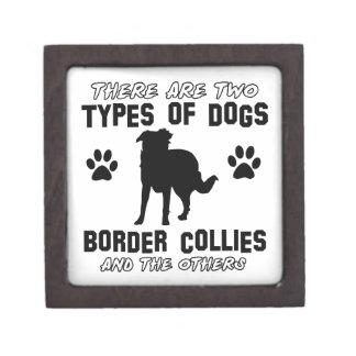 border collie DOG designs Premium Jewelry Box