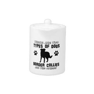 border collie DOG designs Teapot