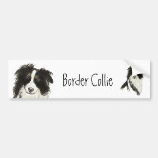Border Collie Dog o Car Bumper Sticker