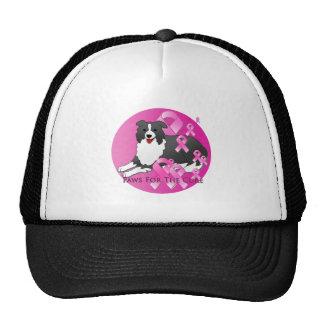 Border Collie Dog Pink Ribbon Trucker Hat