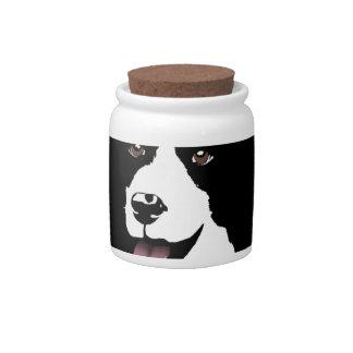 Border Collie Dog Pop Art Pet  Bright Customize Candy Jars