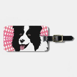 Border Collie Dog Pop Art Pet  Customize Bag Tag