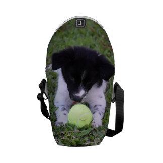 BORDER COLLIE DOG RURAL QUEENSLAND AUSTRALIA COURIER BAG