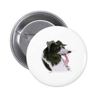 Border Collie dog, tony fernandes Button