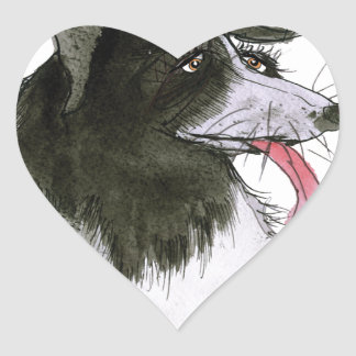 Border Collie dog, tony fernandes Heart Sticker
