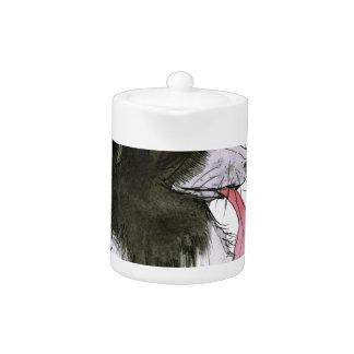 Border Collie dog, tony fernandes Teapot