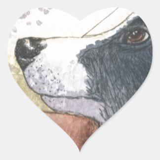 Border Collie dog waiting in car Heart Sticker