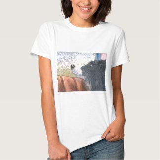 Border Collie dog waiting in car T-shirt