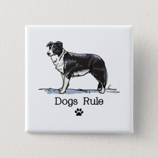 Border collie - dogs rule button
