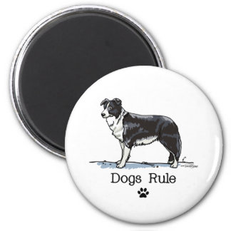 Border collie - dogs rule magnet