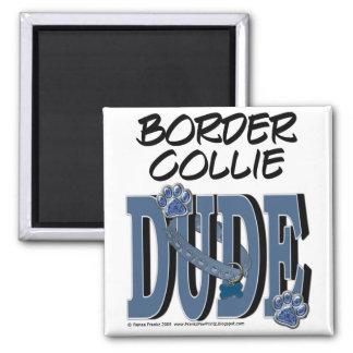 Border Collie DUDE Refrigerator Magnets