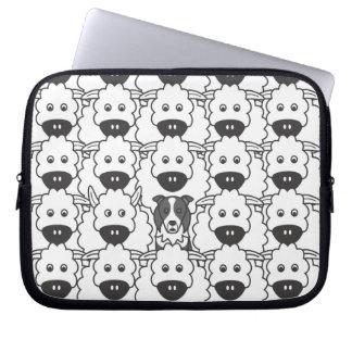 Border collie en las ovejas mangas portátiles