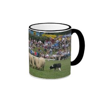 Border Collie Exhibition Ringer Coffee Mug