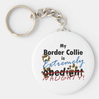 Border collie extremadamente travieso llavero